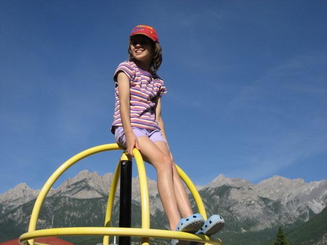 Sarah at the playground