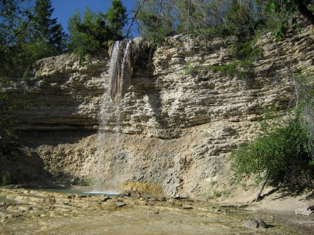 The falls at Fairmont Hot Springs